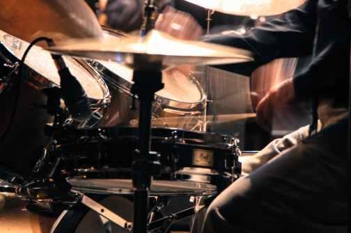 artist bass close up drum