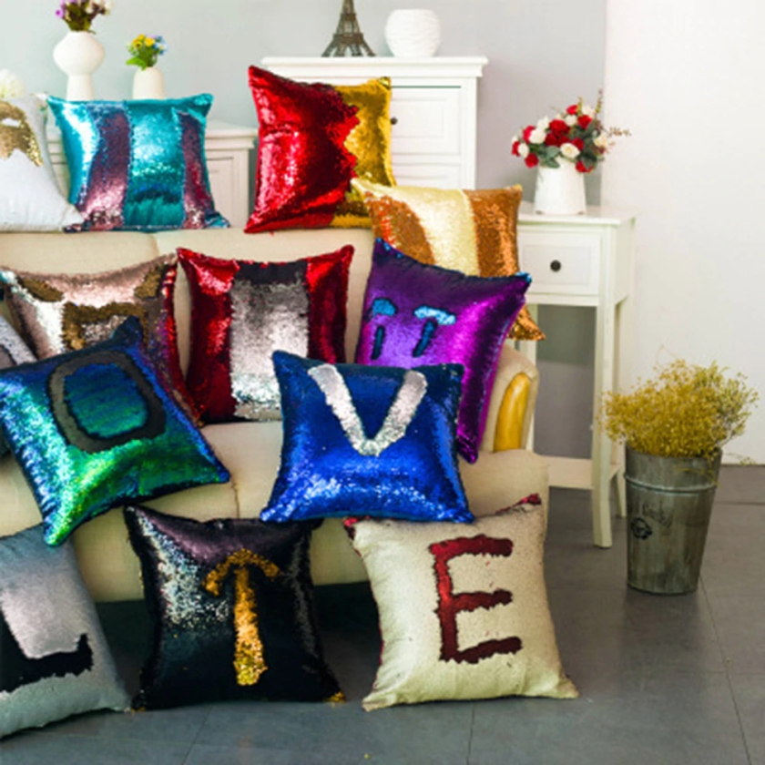 glitter pillows
