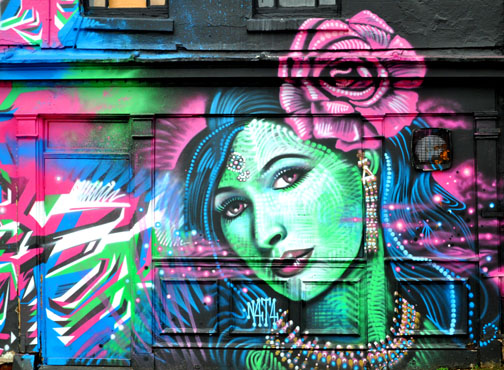 Graffiti Art - Beautiful Lady